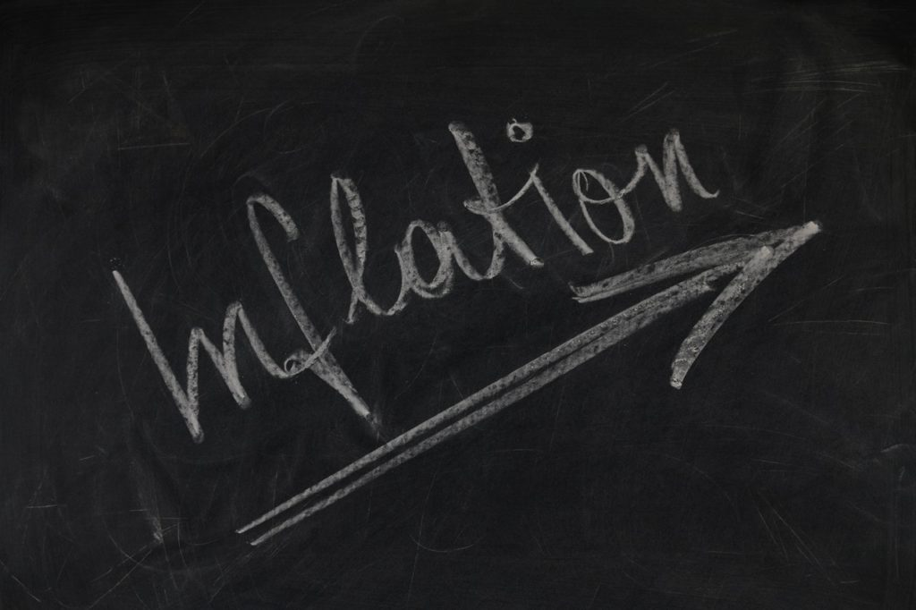 White and Black Inflation Chalk Board Writing